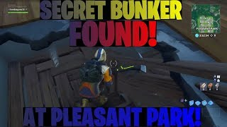 FORTNITE Secret bunker at pleasant park!