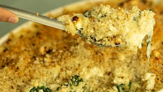 Greek Style Mac & Cheese with Spinach & Feta