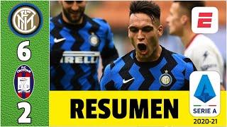 Inter 6-2 Crotone. Hat trick de Lautaro Martínez en octavo triunfo al hilo de los de Conte | Serie A