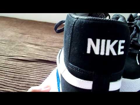 Nike SB Blazer Hi - Black & White 2 thumbnail