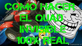 how to do the INVISIBLE Quad / / tricks in Fortnite ch. 1