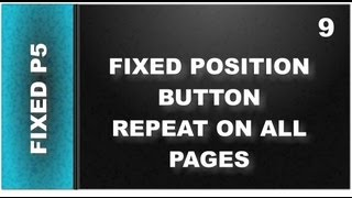 Web Design Tutorial for Xara Designer 9 Premium Lesson 126: Repeating Fixed Position Button Part 5