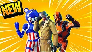 "NEW SKINS ""LEAKED"" IN FORTNITE BATTLE ROYALE! (NEW Skins Coming To Fortnite 4th Of July Skin v4.5.0)"