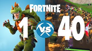 1 Player Vs. 40 Players Fortnite Custom Match