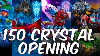 EPIC 150 + Crystal Opening!  4 STAR BOT CRYSTAL! - TRANSFORMERS Forged To Fight