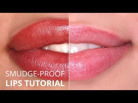 """""""Perfect Smudge-proof"""" Permanent Makeup lips TUTORIAL"""