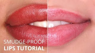 """Perfect Smudge-proof"" Permanent Makeup lips TUTORIAL"