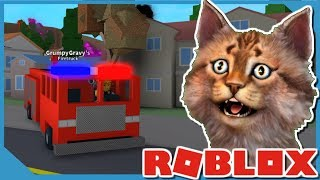 ROBLOX FIRE FIGHTING SIMULATOR - BUYING THE FIRETRUCK
