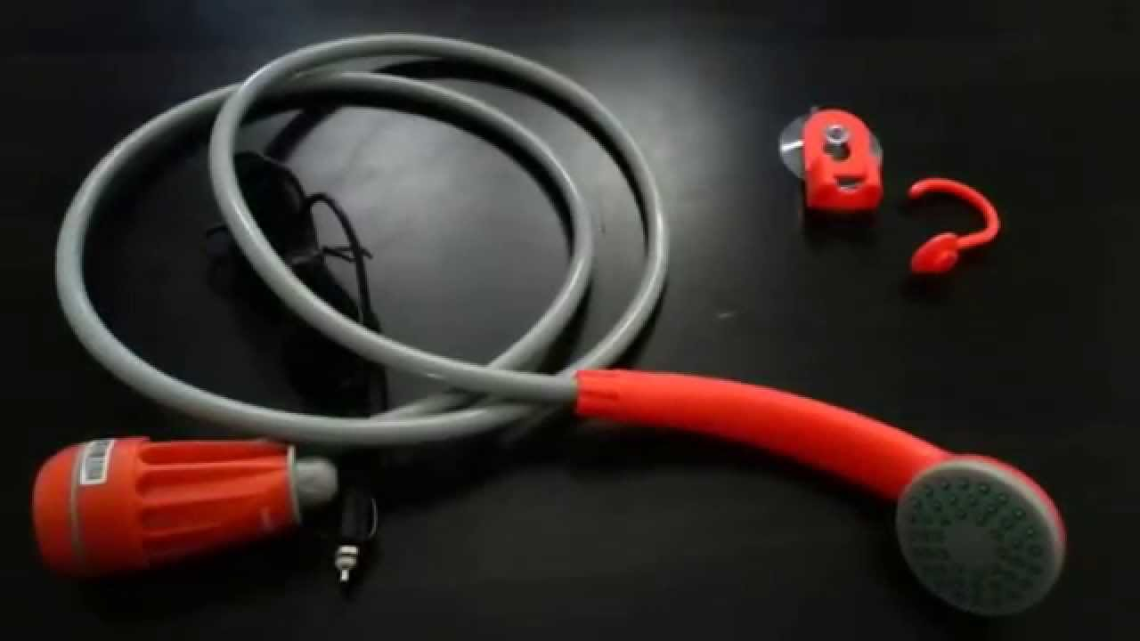 Ivation 12v Portable Shower & Demo - YouTube