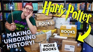LARGEST HARRY POTTER UNBOXING EVER | SO MANY BOOKS!
