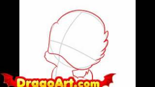 How to draw baby Daisy Duck, step by step