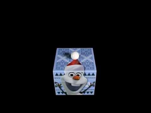 "11883 Mr. Christmas Disney Frozen Keepsake Music Box -  Olaf plays ""Do You Want To Build A Snowman?"""