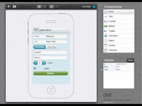 DHTMLX Touch Designer V.0.4a