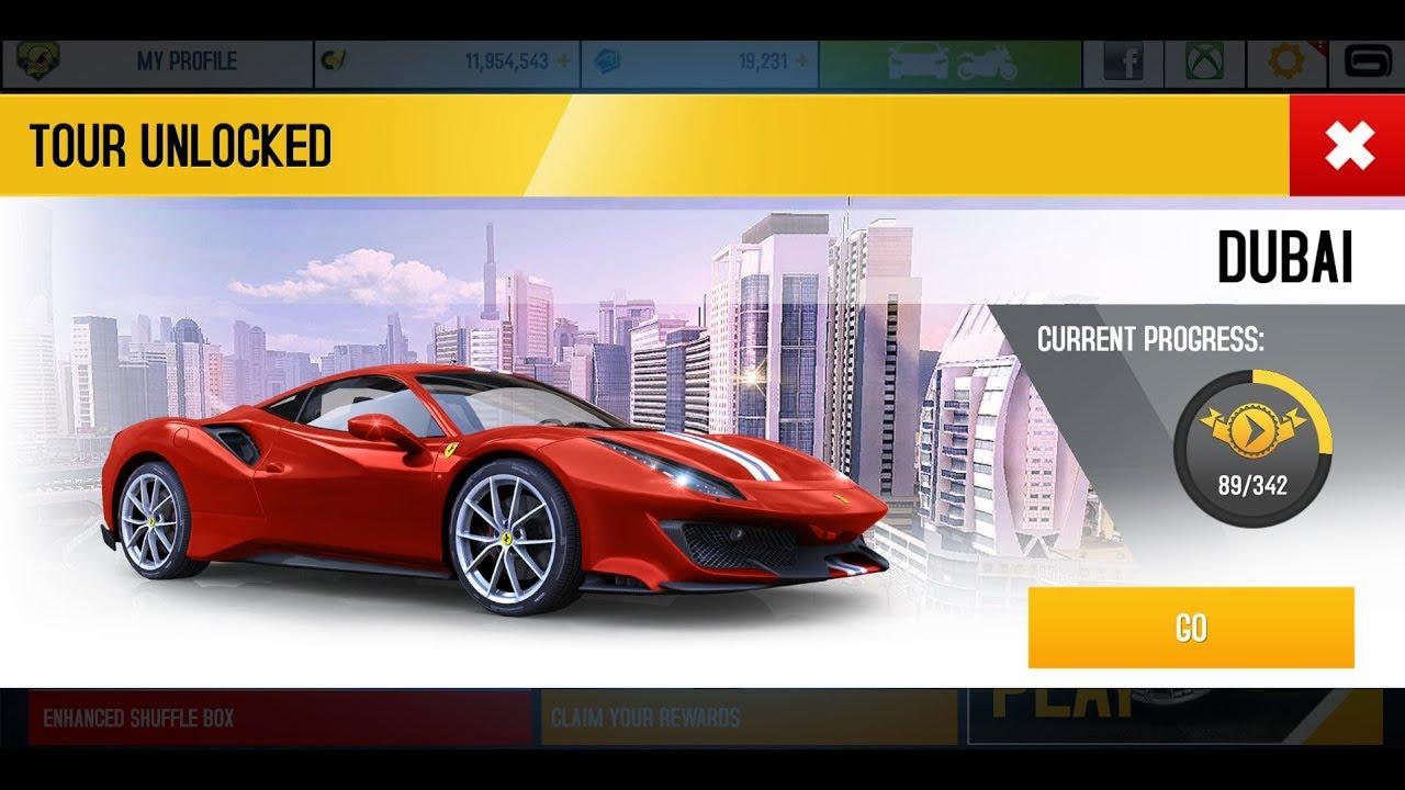 Asphalt 8 Ferrari 488 Pista Rank 1663 Dubai Championship Youtube