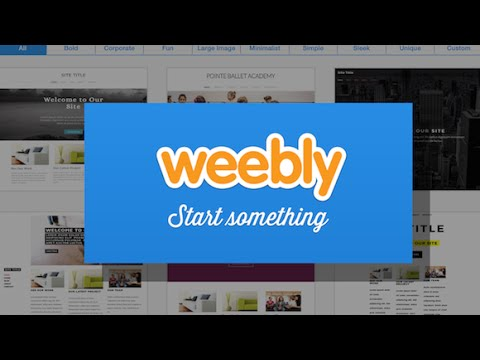 Weebly for the iPad