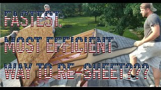 HOW TO TEAR OFF SHEATHING + SHINGLES