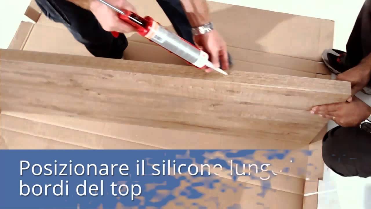 3 qubo montaggio top per lavabo in appoggio youtube