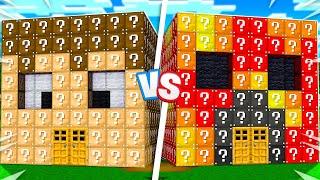 Preston vs FGTeeV Lucky Block House Battle! - Minecraft
