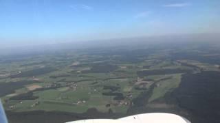 Landeanflug Richtung Allgäu-Airport über Kempten