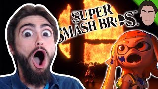 SMASH BROS SWITCH REACTION!!! INKLINGS! NEW CHARACTER!! RELEASE DATE 2018!!!