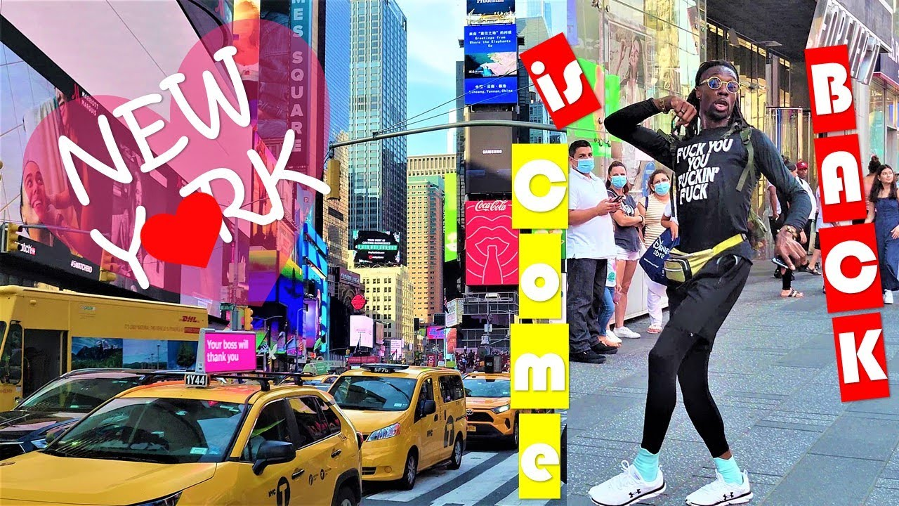 [4K]🇺🇸NYC 🗽 Times Square, Bryant Park, 34th St, 6th Ave 2021 💝 Hot Walking Tour Midtown Manhattan ⭐🌍