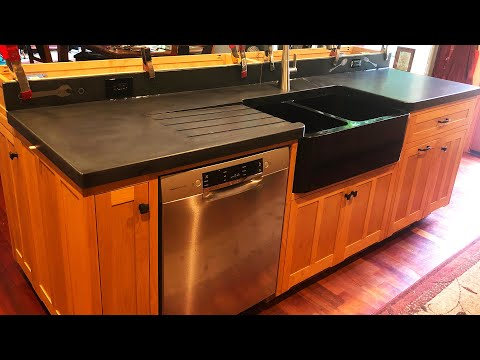 DIY Kitchen Cabinets Ep 10 – Making Concrete Countertops!