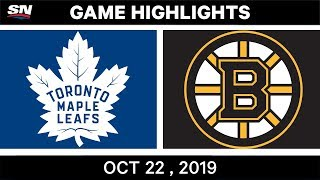NHL Highlights | Maple Leafs vs Bruins - Oct 22, 2019