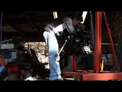 """BMW 545i, N62, Crankshaft pulley bolt removal """"Jesus bolt"""""""