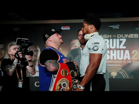 Anthony Joshua and Andy Ruiz Jr answer questions before pivotal rematch