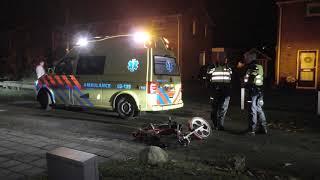 Snorbrommer rijder ernstig gewond na val in Veenoord
