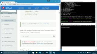angular2 quickstart in windows