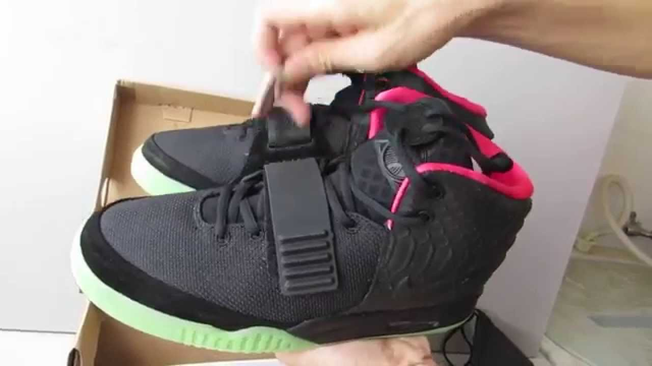 5d0c6b8612450 Mens Nike Air Yeezy 2 II Black West best replica - YouTube