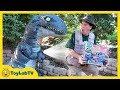 Giant Life Size Raptor Blue Dinosaur from Jurassic World Fallen Kingdom & Tomy Dinosaurs Toy Playset