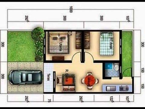 Denah Rumah Type 36 Luas Tanah 60 M - YouTube
