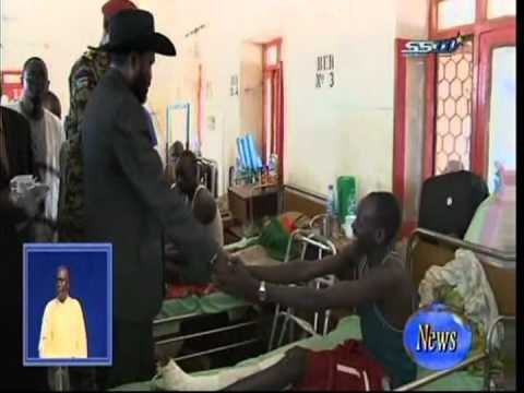 South Sudanese President Salva Kiir wounded  soldier in Juba