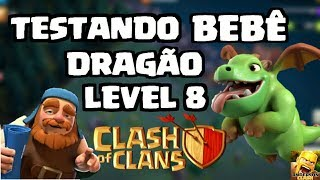 CLASH OF CLANS -TESTANDO O BEBÊ DRAGÃO LEVEL 8 NA CASA DO CONSTRUTOR