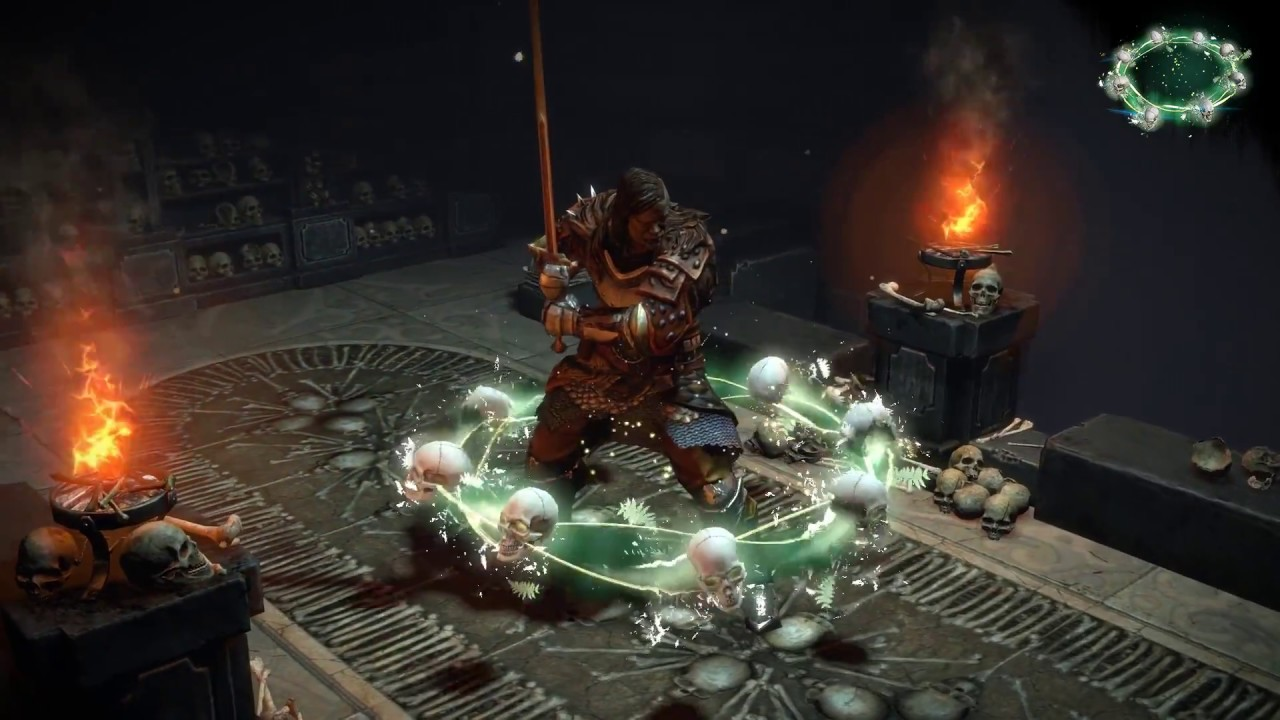 path of exile bone aura character effect youtube