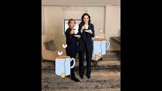 Katie Couric sips tea with Michelle Dockery