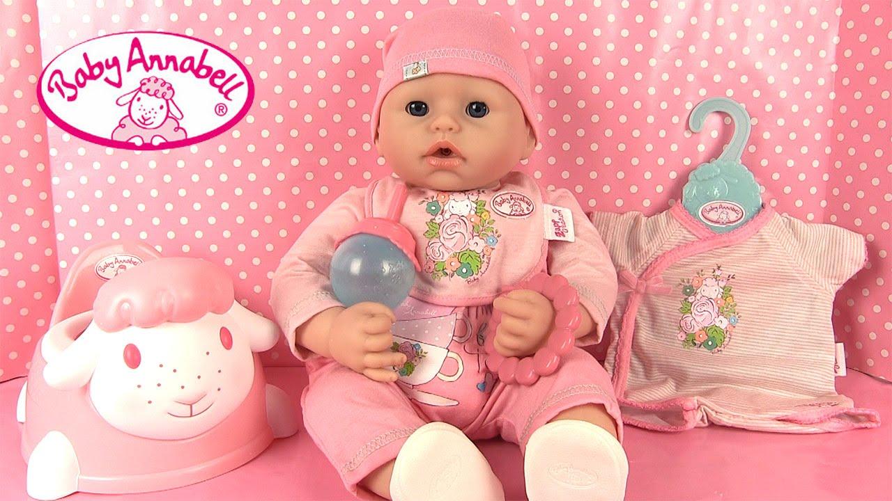 poup e baby annabell pot et coffret d accessoires repas et change baby doll potty time set youtube. Black Bedroom Furniture Sets. Home Design Ideas
