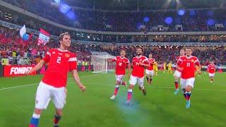 Сборная России провела домашний матч с казахстанцами, обыграв соперника 1:0.