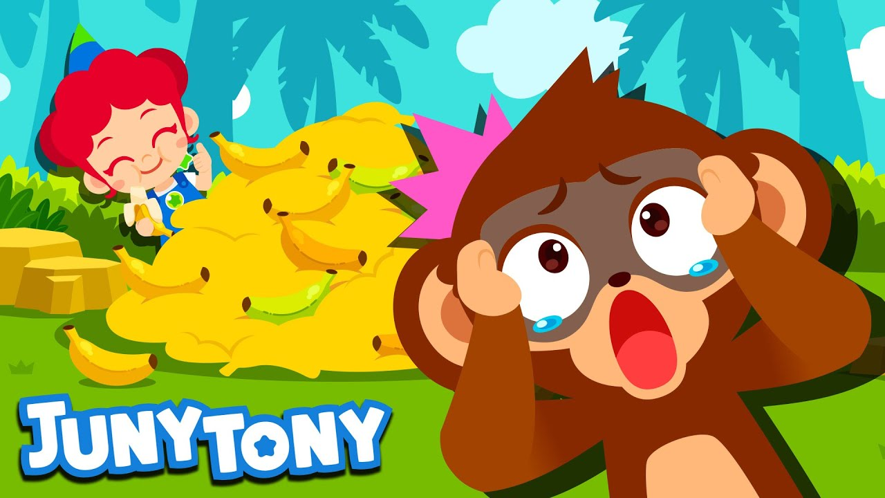 Monkey Bananas | Monkey Dance | Animal Songs for Kids | Preschool Songs | JunyTony
