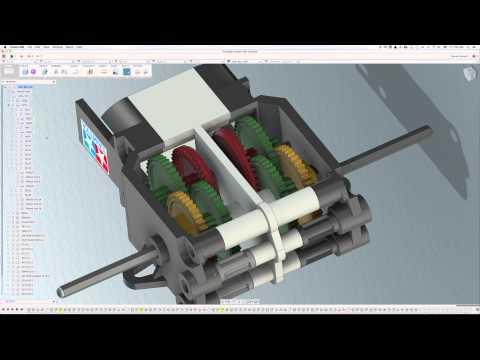 Fusion 360 Animation Tamiya Twin Motor Gear Box Youtube