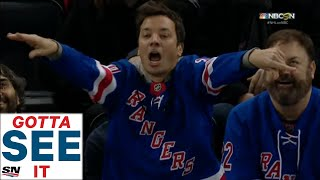 GOTTA SEE IT:  Jimmy Fallon Losing His Mind Cheering For Rangers At Madison Square Garden