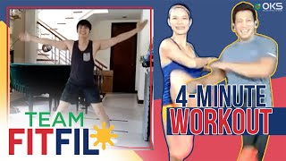 Download Mp3 4-minute Full Body Workout With Robi Domingo | Team Fitfil Episode 3