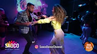 Talal Benlahsen and Sophia Adalis Salsa Dancing at Riga Salsa Festival 2018, Saturday 11.08.2018