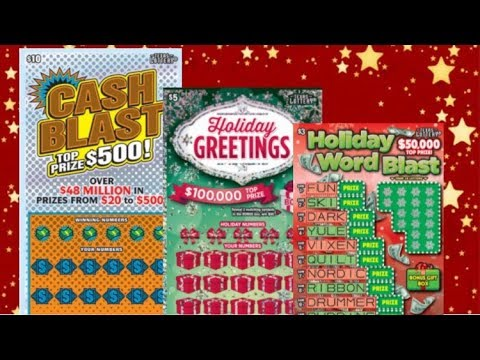 HOLIDAY GREETINGS FOR THE WIN! $5 Holiday Greetings, $10 Cash Blast Texas Lottery