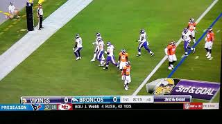 Kirk cousins first touchdown on the vikings