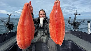 Catch, Camp, Cook, Eat Teriyaki King Salmon!