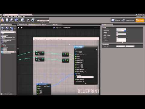 Unreal Engine 4. Blueprint. Урок 8 - Подсказка при наведении курсора. Hint when cursor over
