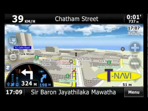 Tnavi Live Traffic GPS Navigator with 3D buildings powered by Cityguide